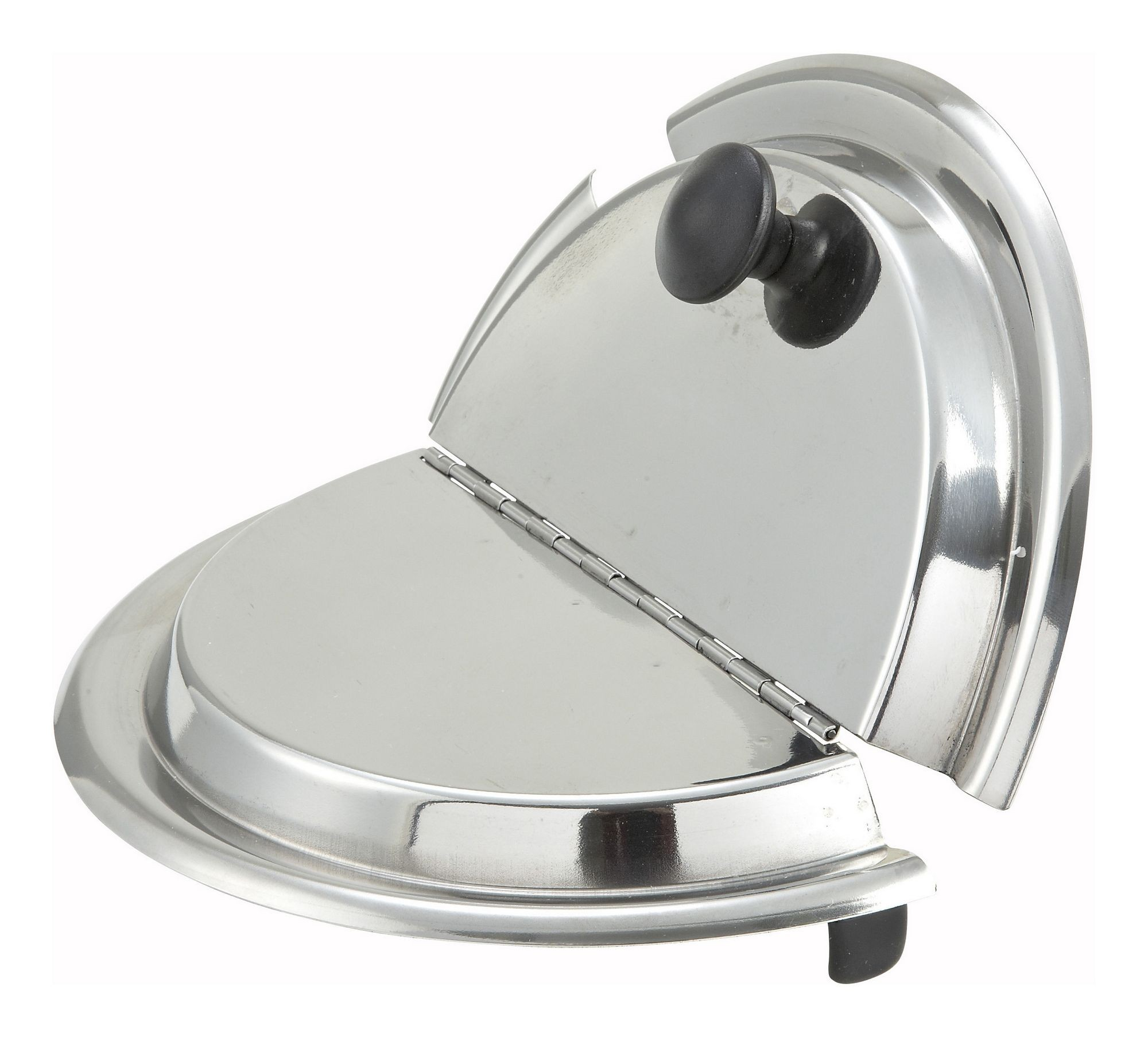 Winco INSH-11 Stainless Steel Hinged Cover For 11 Qt. Inset