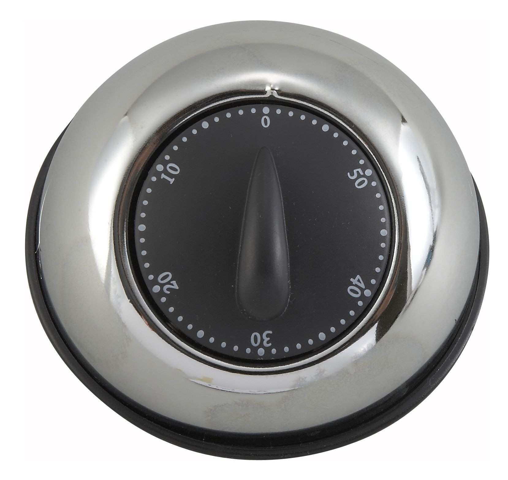 Winco TIM-78 Stainless Steel Long-Ring Mechanical Timer