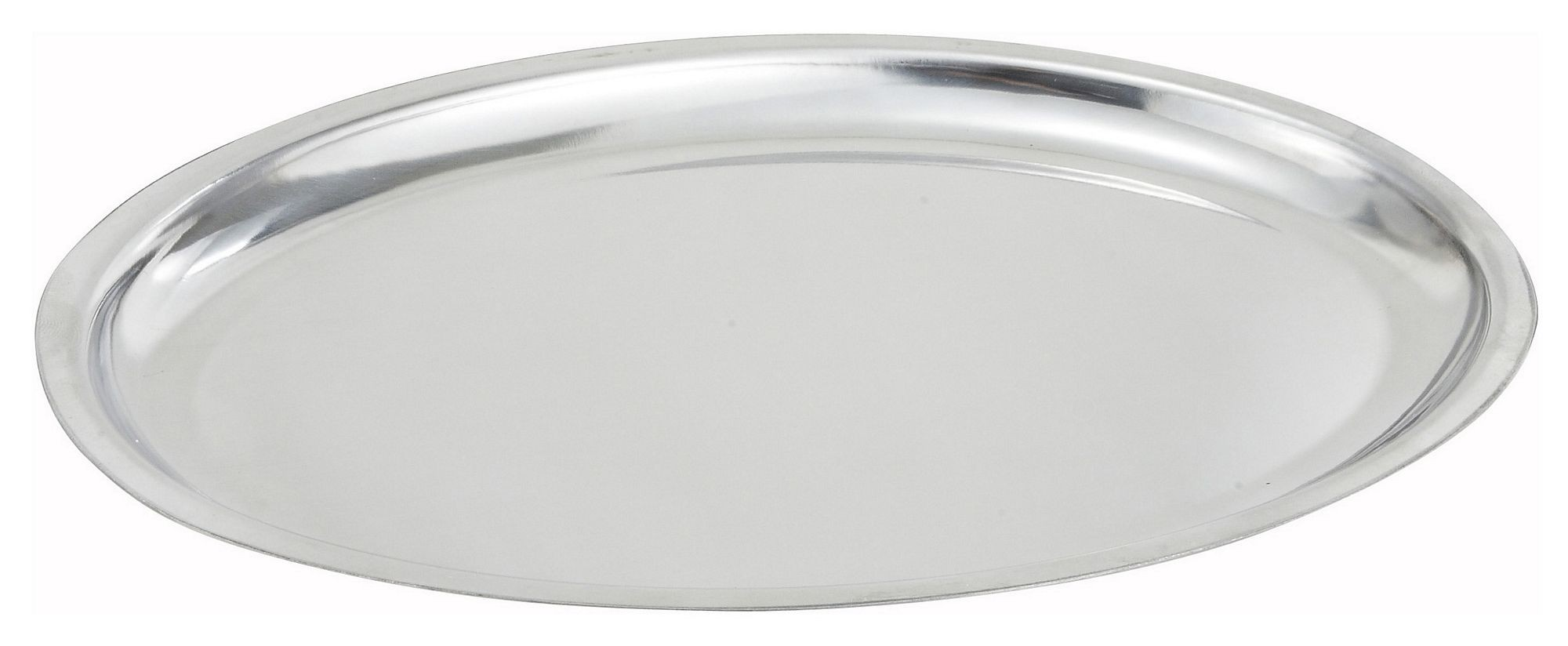 Winco SIZ-11 Stainless Steel Oval Sizzling Platter Only, 11""