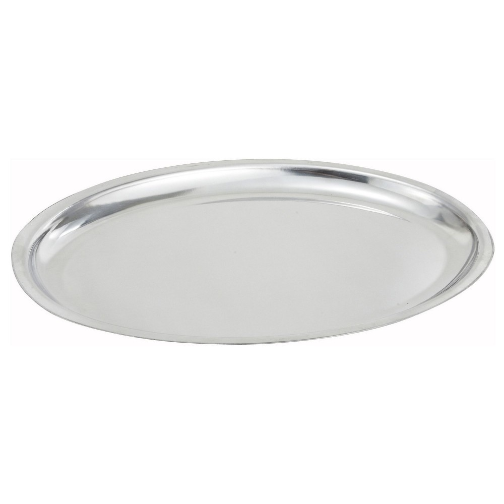 Stainless Steel Oval Sizzling Platter - 11 (base sold separately)