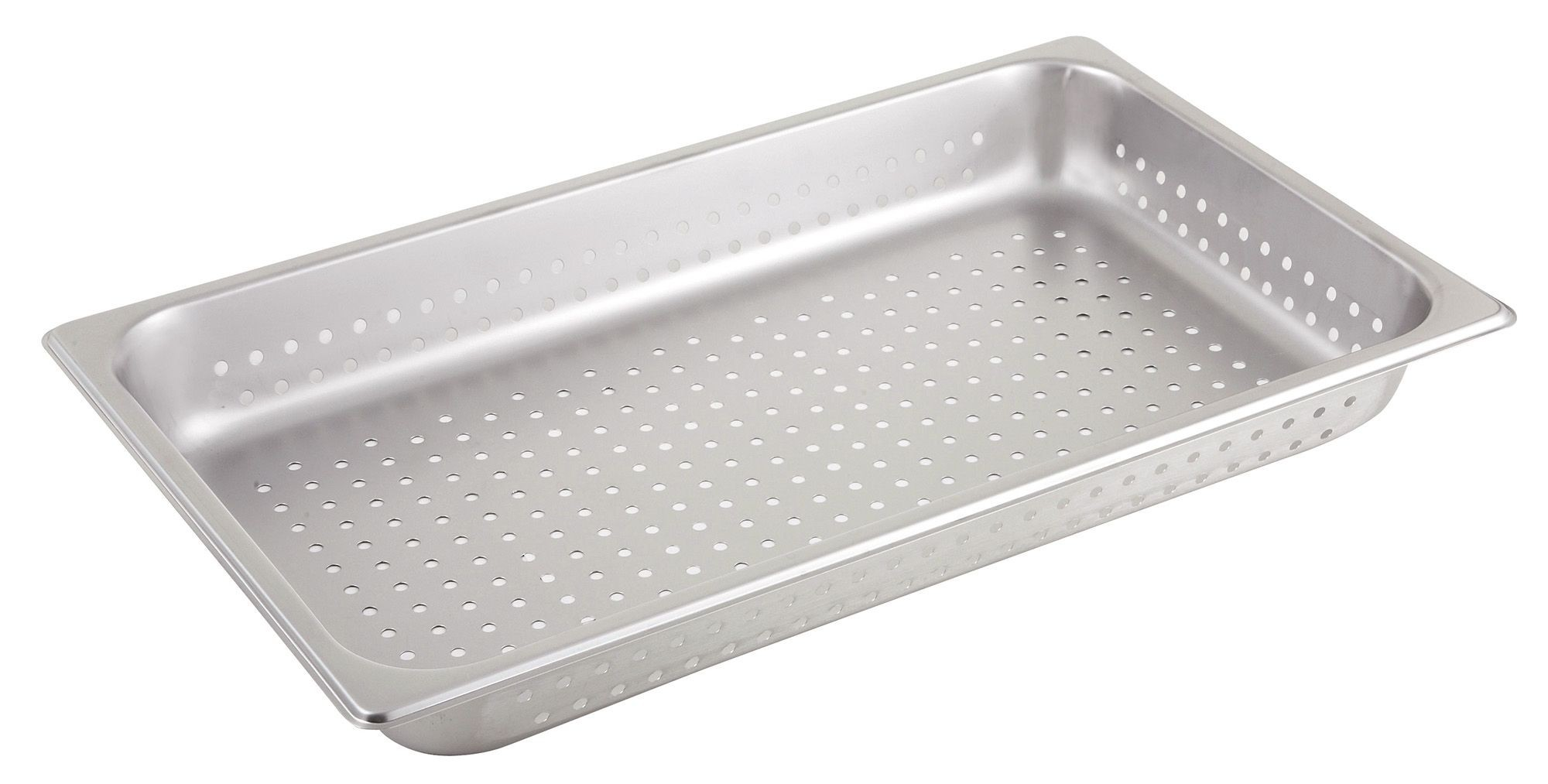 """Winco SPFP2 Stainless Steel Perforated Full-Size Steam Table Pan 2-1/2"""" Deep"""