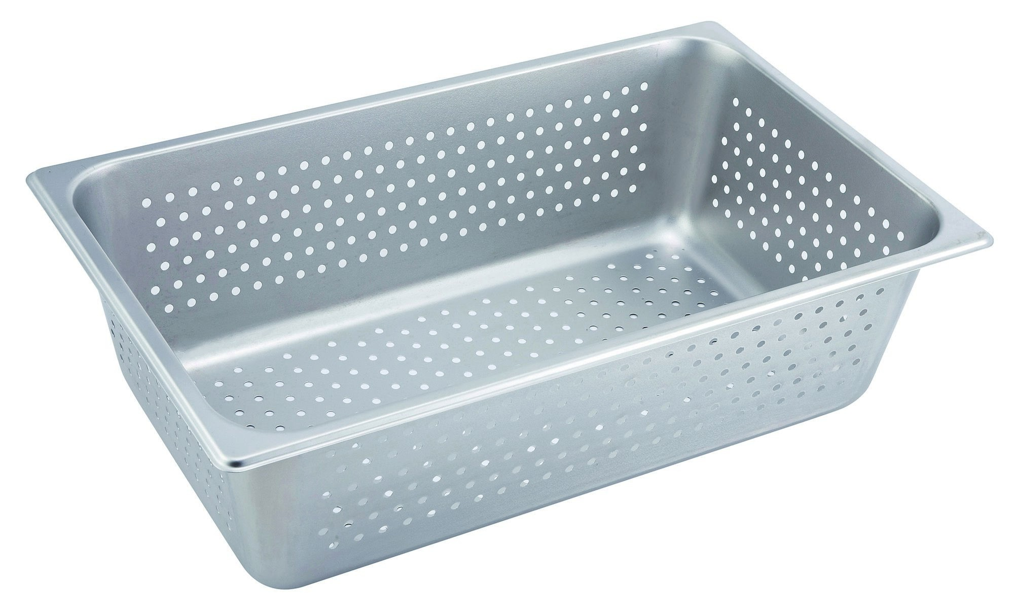 Stainless Steel Perforated Full-Size Steam Table Pan - 6