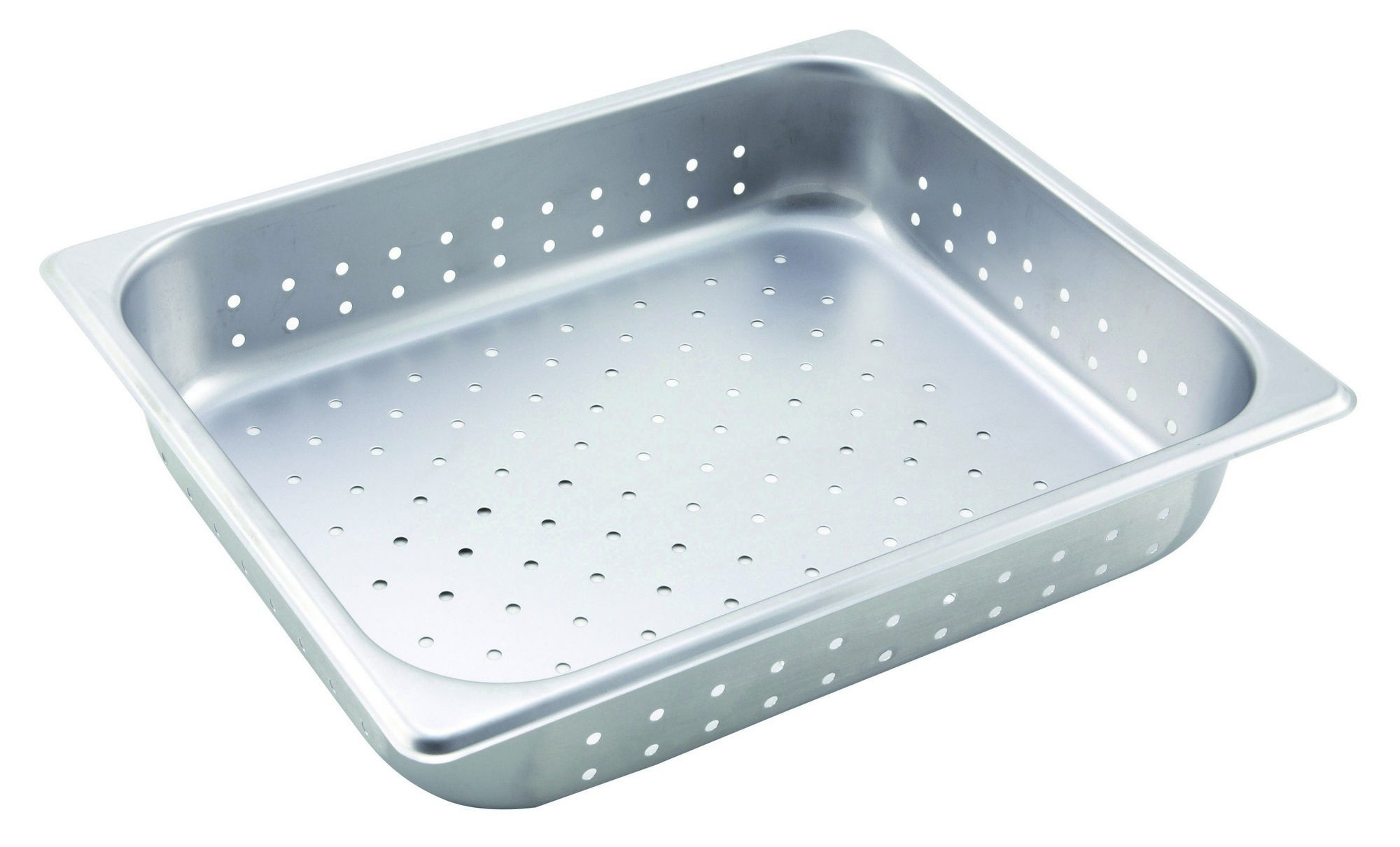 "Winco SPHP2 Stainless Steel Perforated Half-Size Steam Table Pan 2-1/2"" Deep"