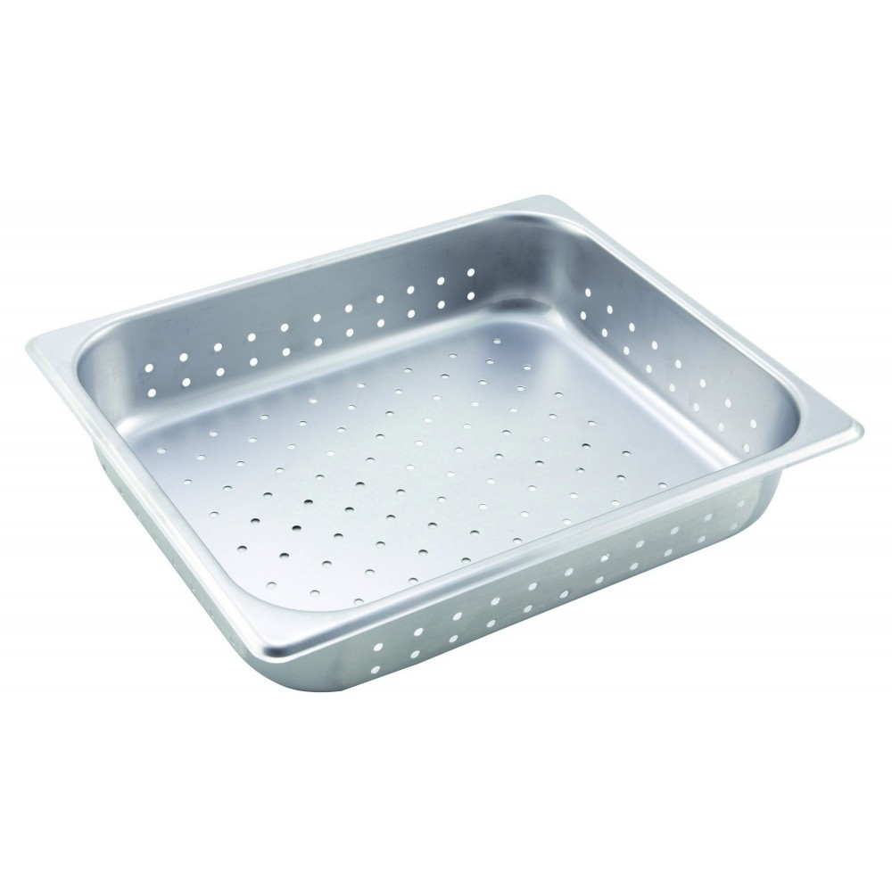 Stainless Steel Perforated Half-Size Steam Table Pan - 2-1/2