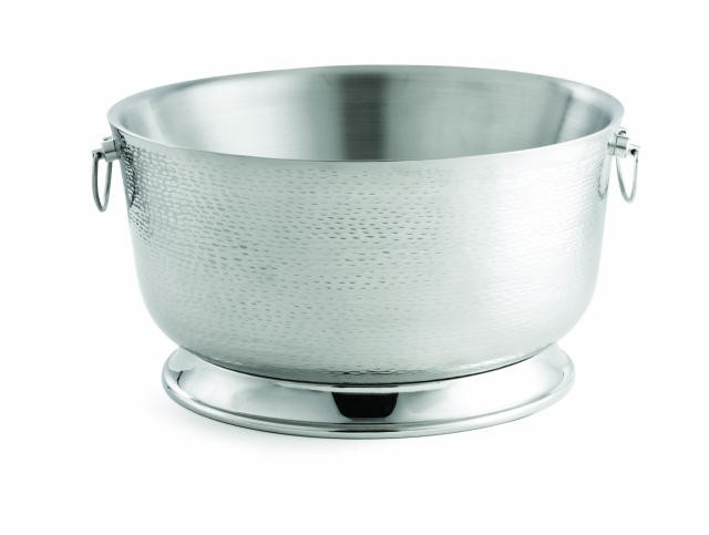 "TableCraft BTB2111 Stainless Steel Round Beverage Tub with Base 21"" Dia. x 11"""