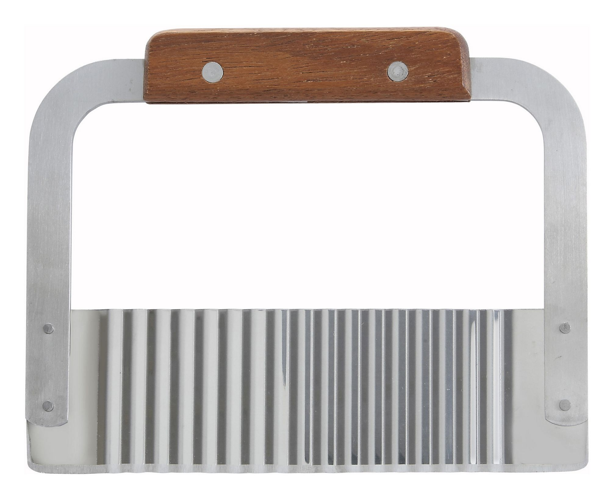 """Winco SRT-7 Stainless Steel Serrator/Crinkle Cutter with Wood Handle 7"""""""