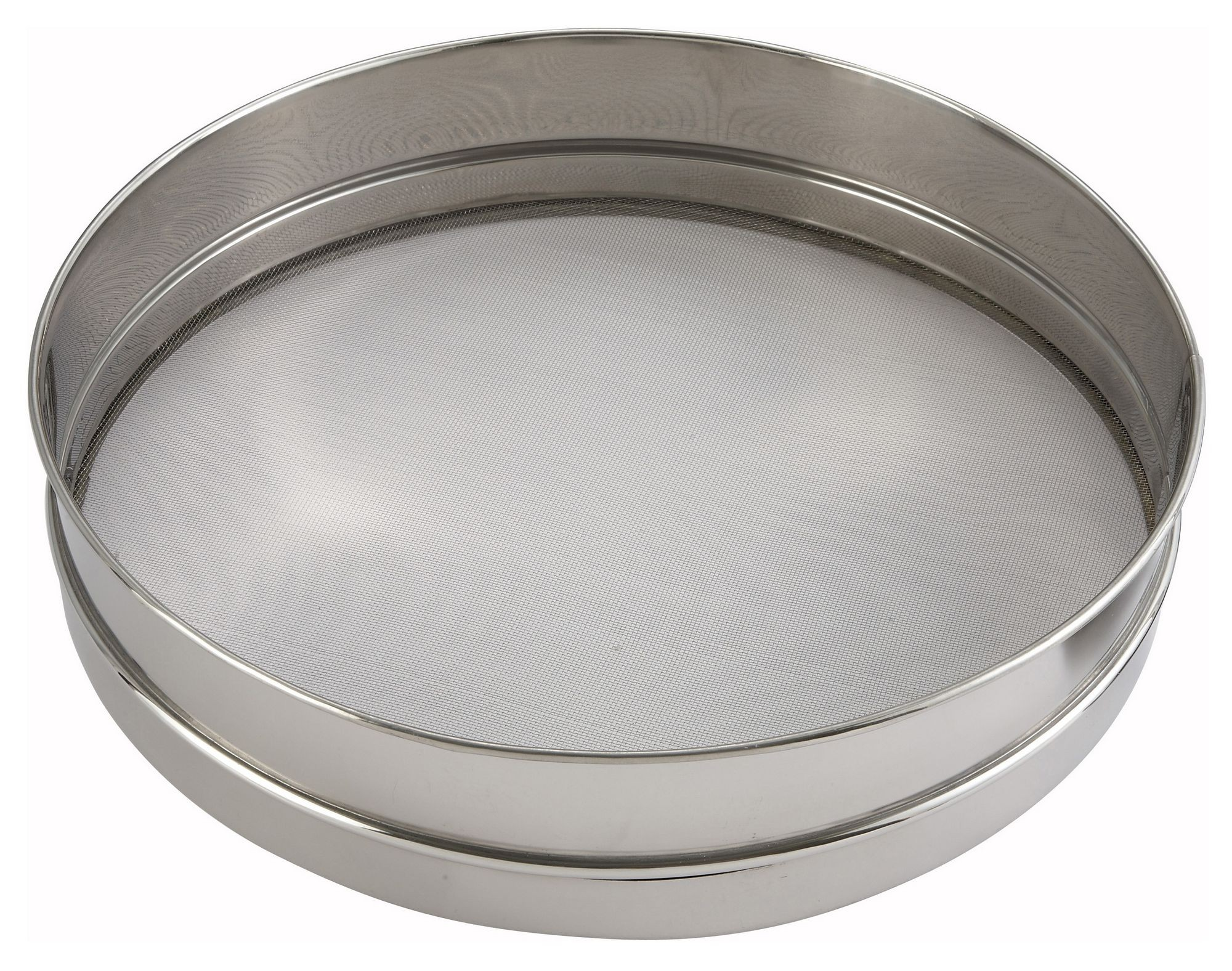 Stainless Steel Sieve With Rim/Mesh - 10 Dia. x 3 Deep