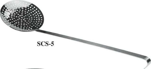 """Winco SCS-5 Round Stainless Steel Skimmer 4-1/2"""""""