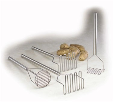 TableCraft 7412 Stainless Steel Square Potato Masher 12""