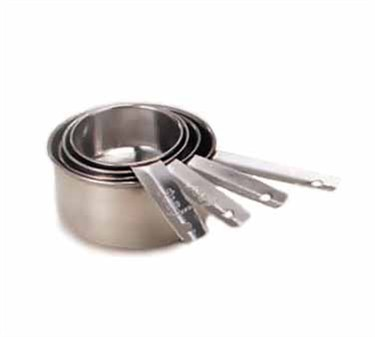 TableCraft 724 Stainless Steel Standard Measuring Cup Set 1/4, 1/3, 1/2, & 1 Cup