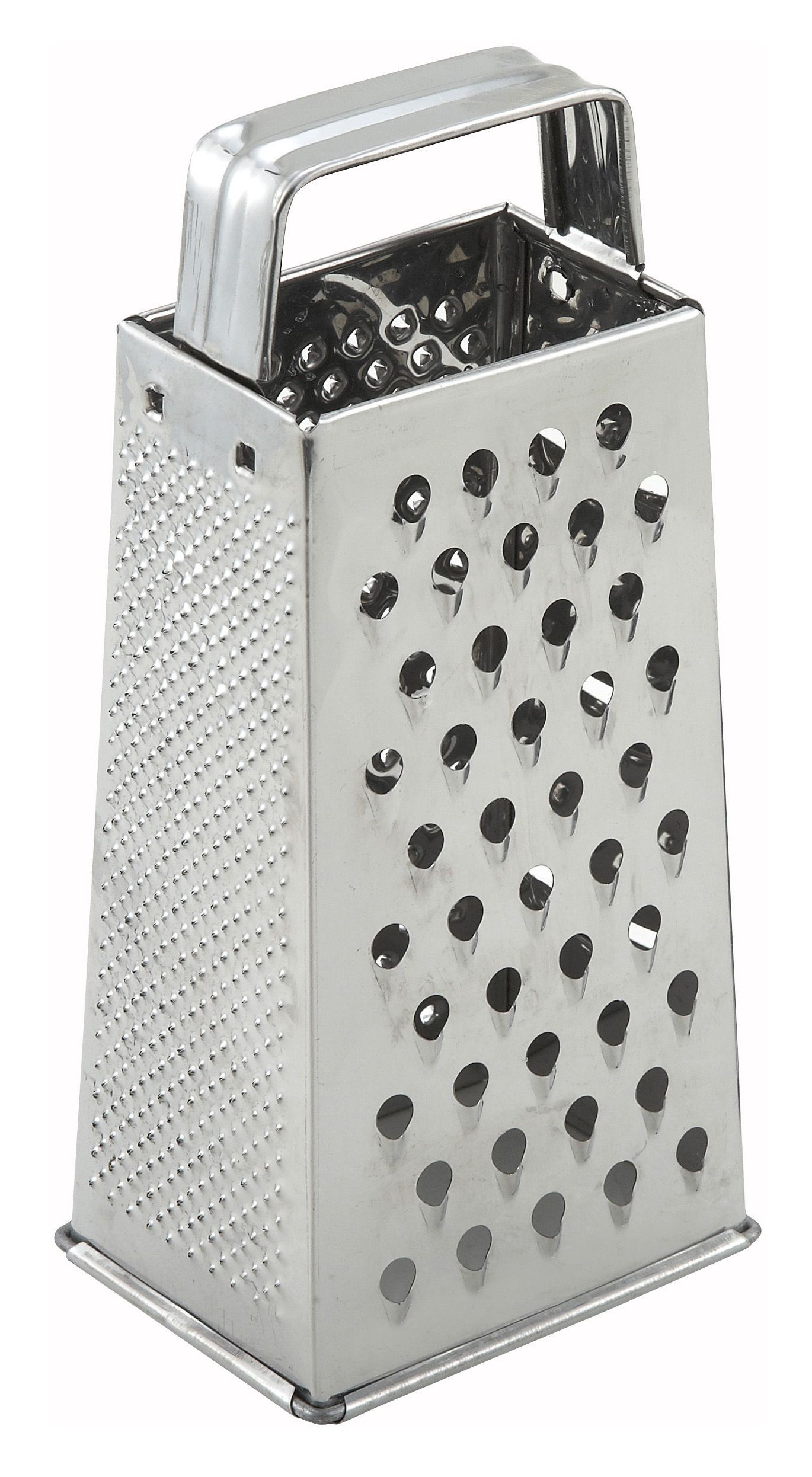 Stainless Steel Tapered Grater With Handle - 4 X 3 X 9