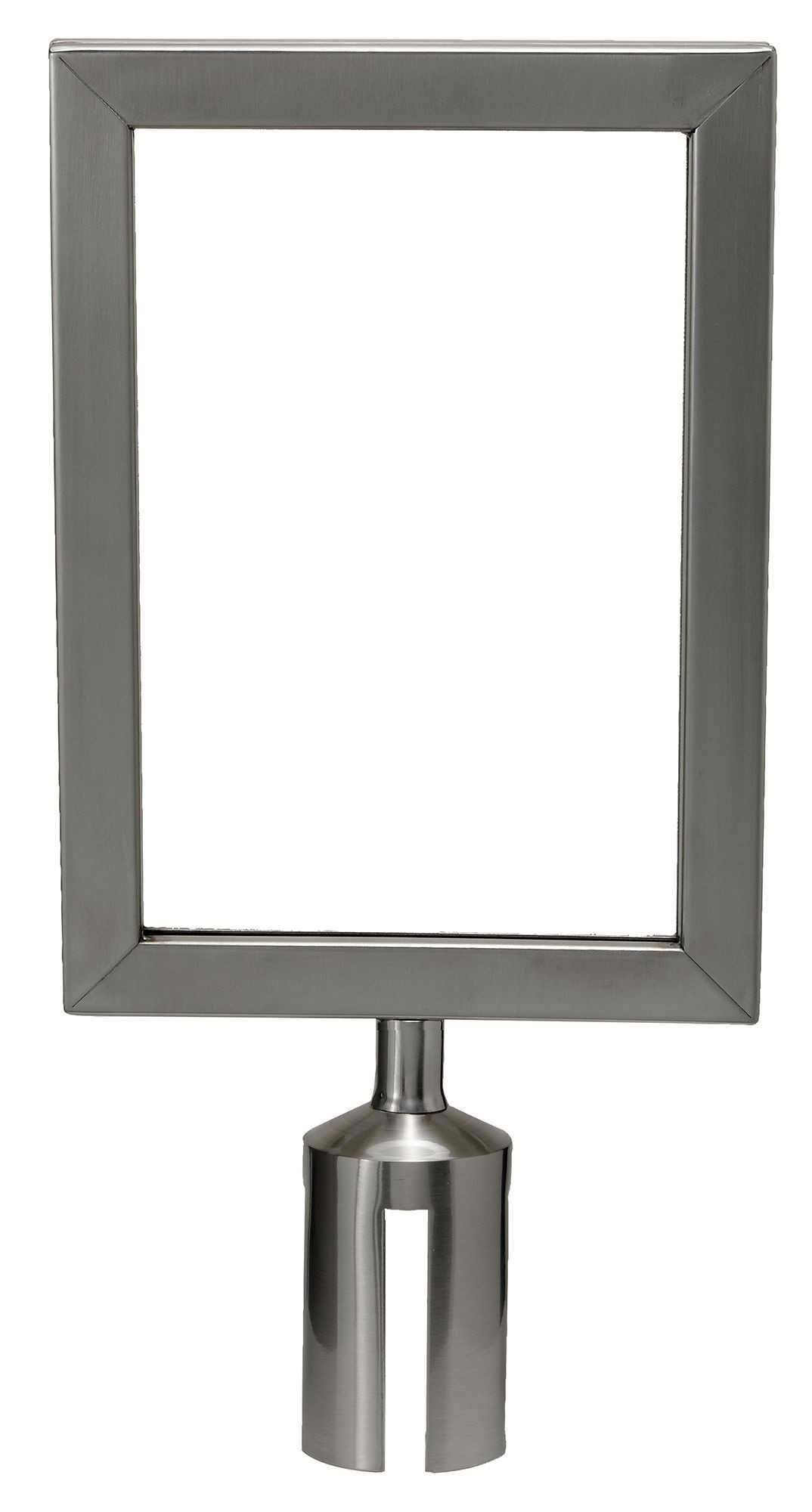 Winco CGSF-12S Stanchion Top Sign Frame, Stainless Steel