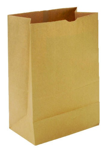 Standard Duty Brown Paper Grocery Bag, Square Bottom, #52- 52 lbs.