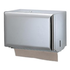 Standard Key-Lock Singlefold Towel Dispenser, Steel, 10 3/4 x 6 x 7 1/2, Chrome