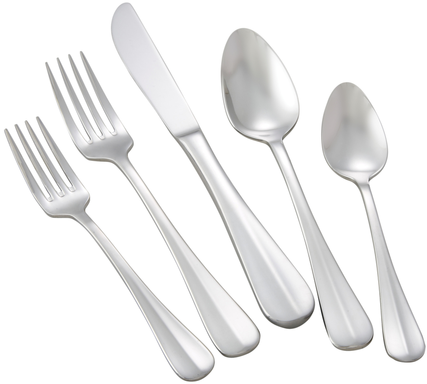 Winco STANFORD-HVY Stanford Extra Heavy Weight 5-Piece Place-Setting for 12 (60/Pack)