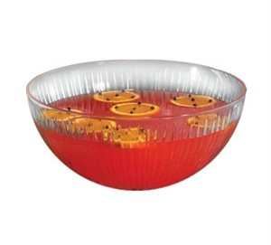 TableCraft 18914 Crysalware Starburst 10 Qt. Plastic Punch Bowl
