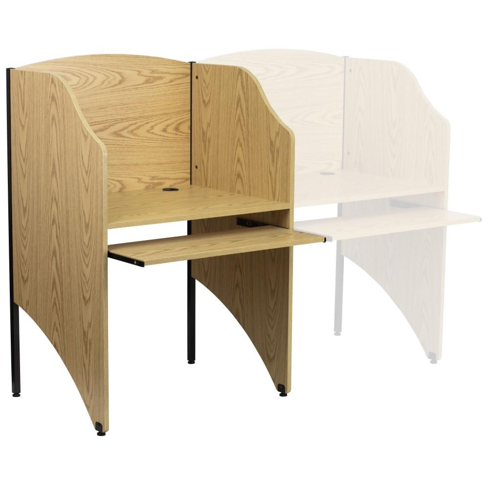 Flash Furniture MT-M6201-OAK-GG Starter Study Carrel/Oak Finish