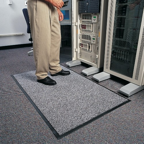 Stat-Zap Carpet Top, 3 X 5, Pewter