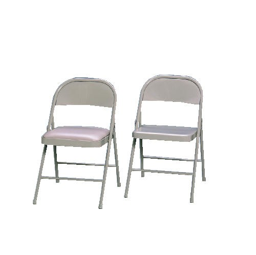 Marvelous Steel Folding Chairs With Padded Seat Light Beige Theyellowbook Wood Chair Design Ideas Theyellowbookinfo