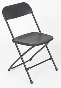 Steel Frame Folding Chair With Plastic Seat