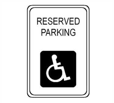 "Franklin Machine Products  280-1213 Steel Reserved Parking Sign 18"" x 24"""
