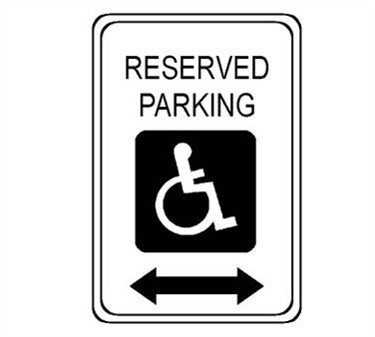 Steel Reserved Parking Sign With Arrow