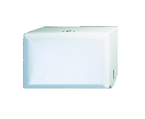 Steel Single Fold Towel Dispenser, Standard Key-Lock, 10.75 X 6X7.5, White