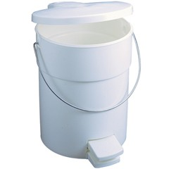 Step-On Container with Rigid Liner, 15.4 X 13.3 Diameter, White