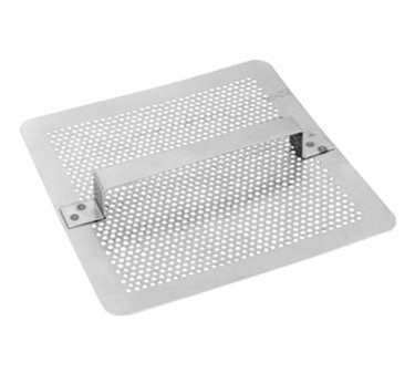 Franklin Machine Products  102-1107  Economy Stainless Steel Flat Floor Square Drain Strainer 7 3/4