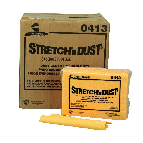 Stretch 'n Dust Dusters Cloth, 23-1/4 x 24, Orange/Yellow