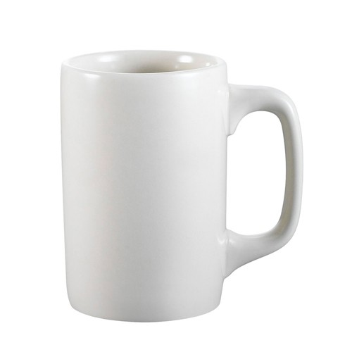Striaght Mug 12Oz Pure White