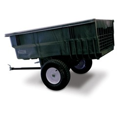 Structural Foam Trailer, 15 cu ft, 1500lb Cap, 39 1/2w x 76d x 33 1/4h, Gray