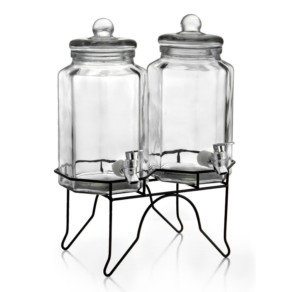 Style Setter Laredo Octagon Double Beverage Dispenser Set With Stand