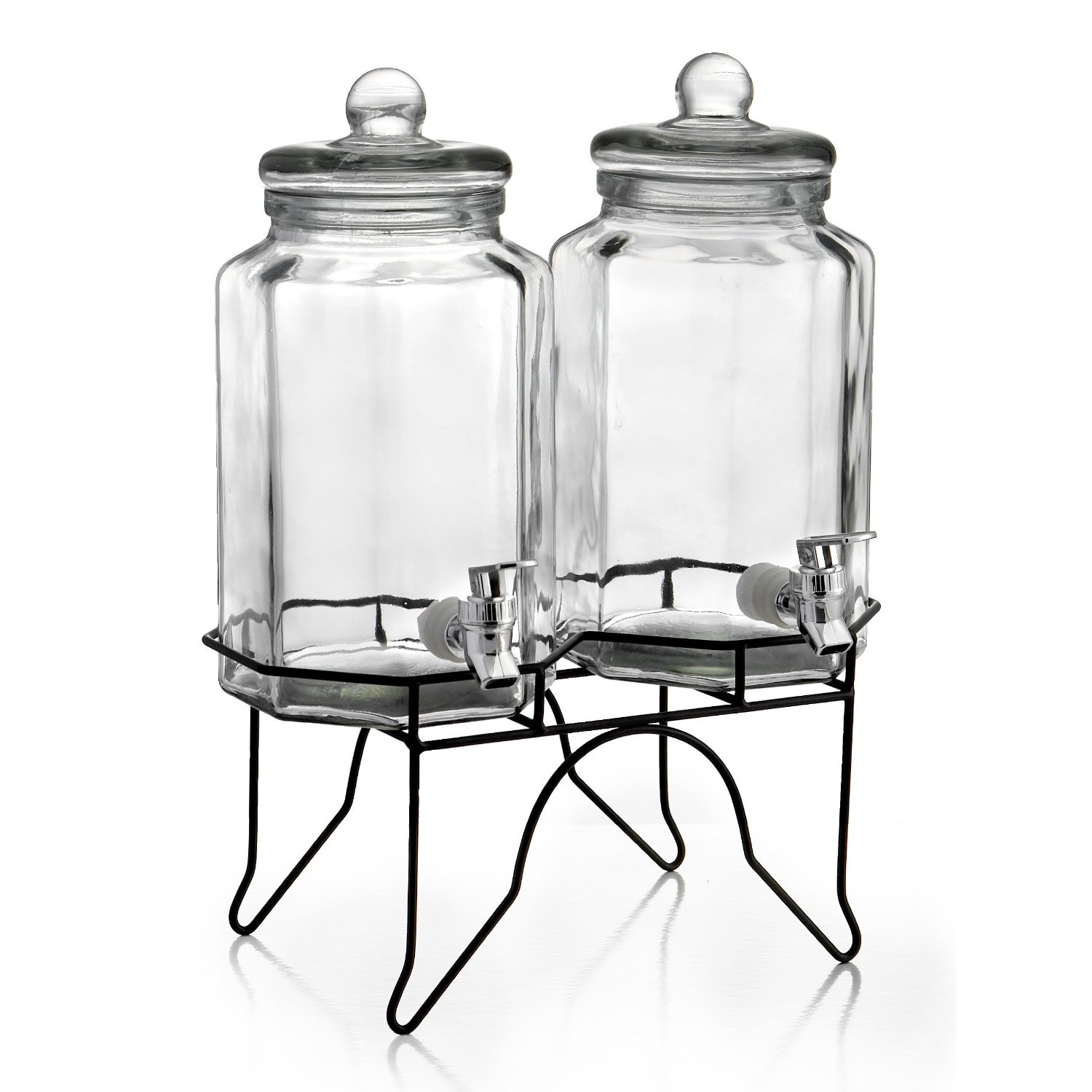 Jay Import 210927-GB Style Setter Laredo Octagon Double Beverage Dispenser Set with Stand