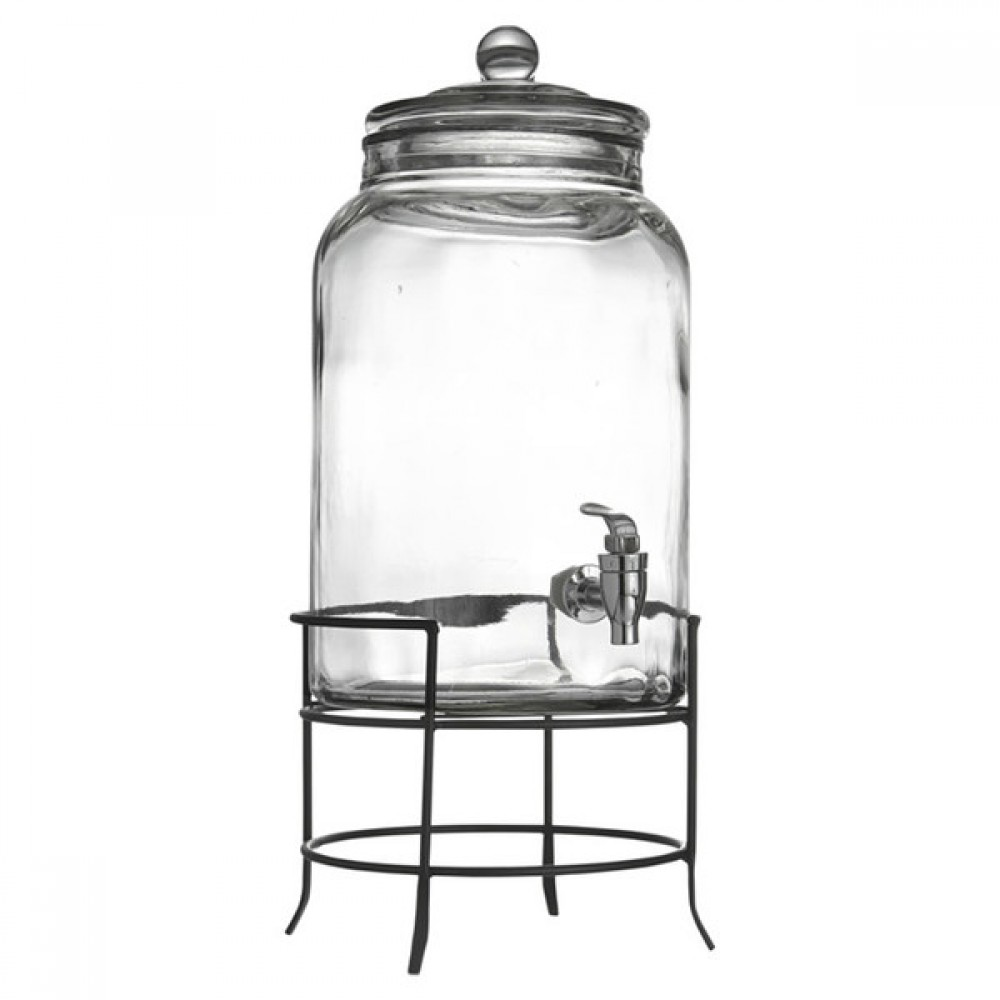 Jay Import 210942-GB Style Setter Montgomery Beverage Dispenser with Stand