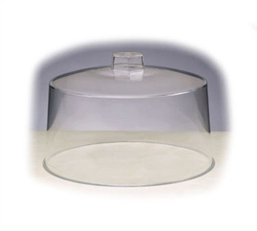 "TableCraft 421 Clear Plastic Cake Cover 12"" x 7-1/2"""