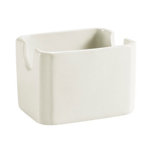 "CAC China HSP-7-AW Rectangular Sugar Package Holder, American White 3 1/8""H"