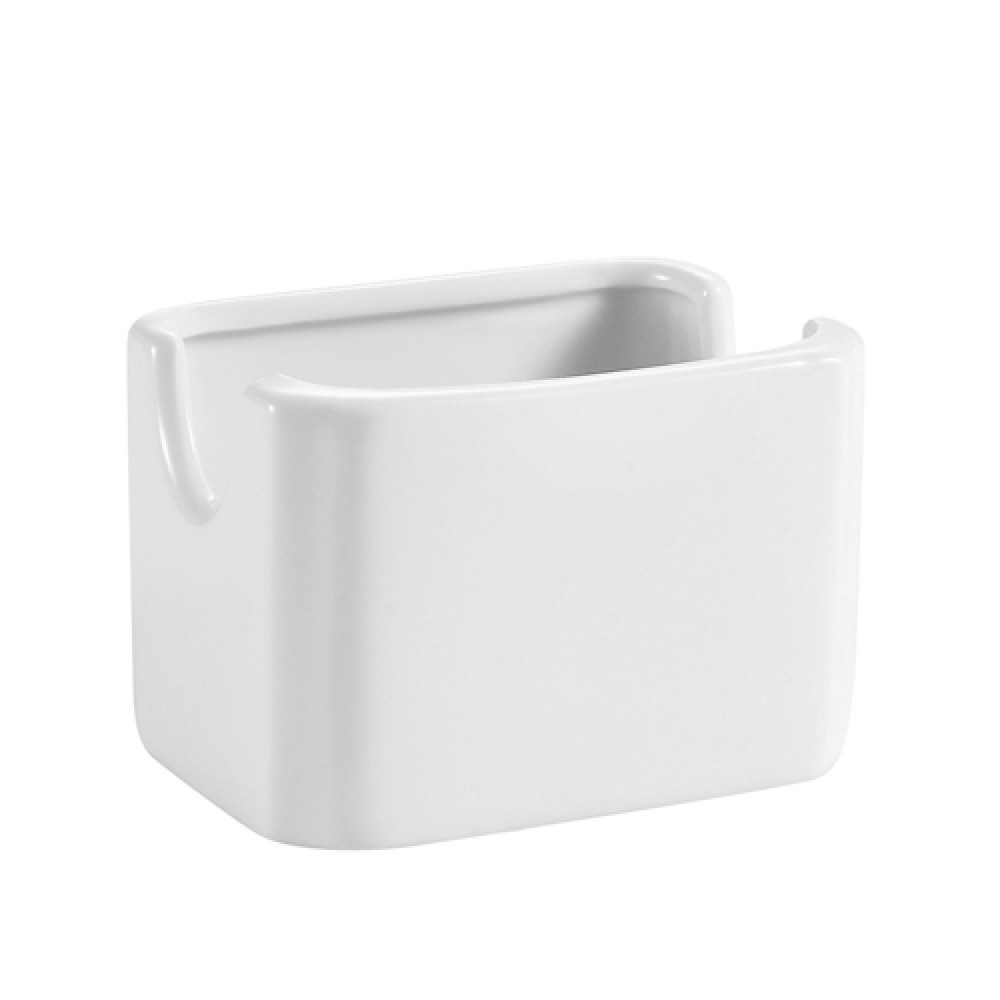 "CAC China hsp-7-w Rectangular Sugar Package Holder, Bone White 3 1/8""H"