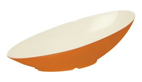 G.E.T. Enterprises B-797-ST Sunset 1.1 Qt. Melamine Oval Cascading Bowl
