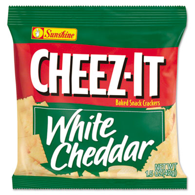 Sunshine Cheez-It Crackers ,White Cheddar Single-Serving Snack Bags, 8/Box