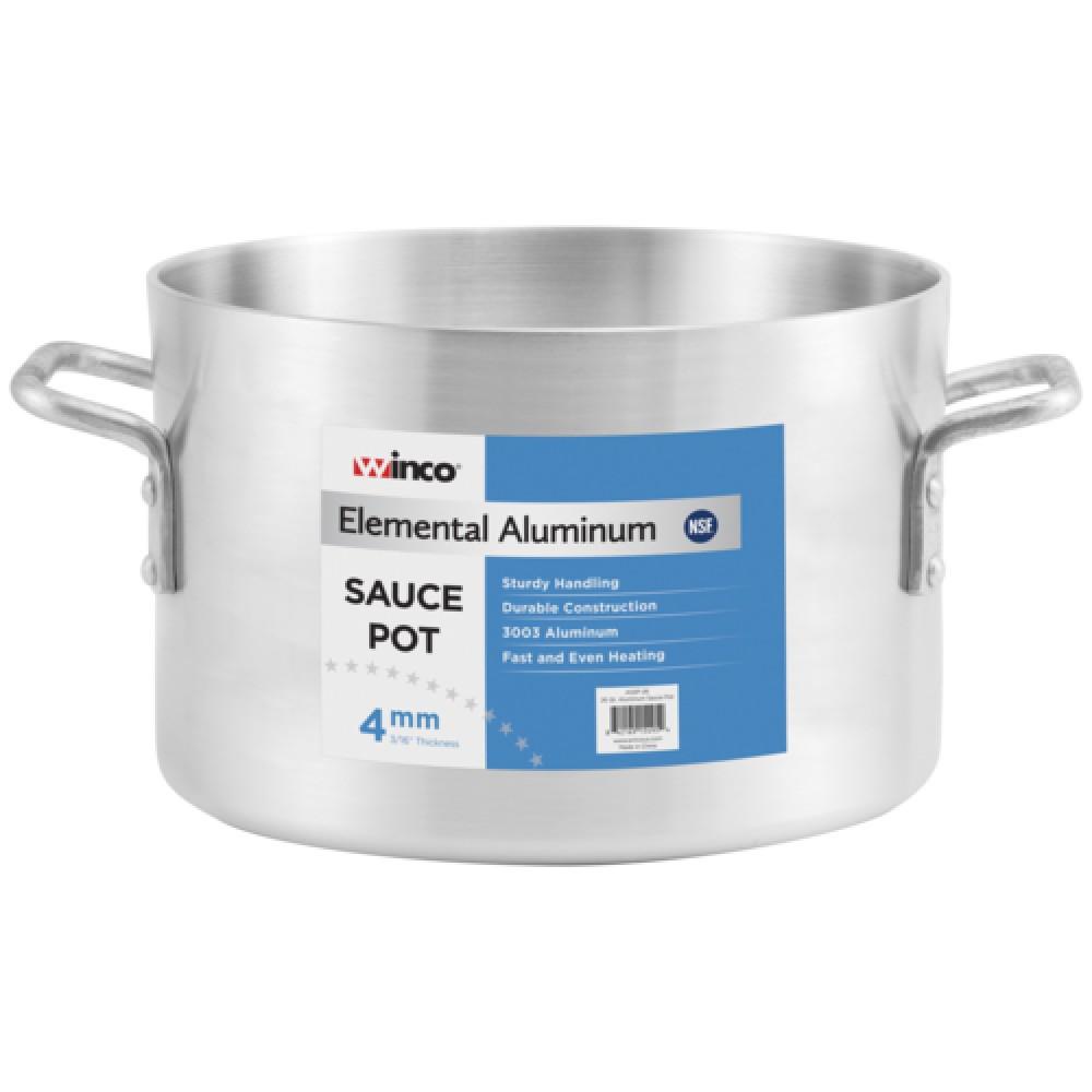 Winco AXAP-26 Super Aluminum 26 Qt. Sauce Pot