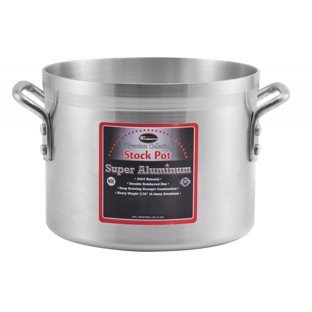 Winco AXS-50 Super Aluminum 50 Qt. Stock Pot