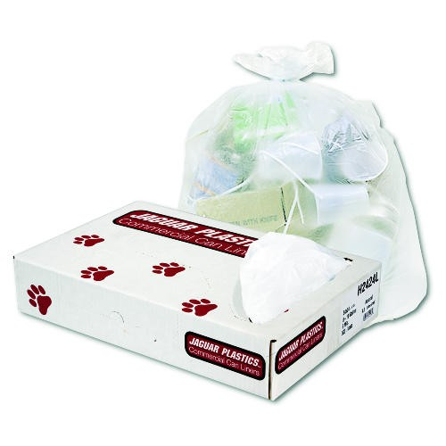 Super Extra-Heavy Garbage Can Liners, 60 gal, 16 Mic, 38 x 60, Natural Color