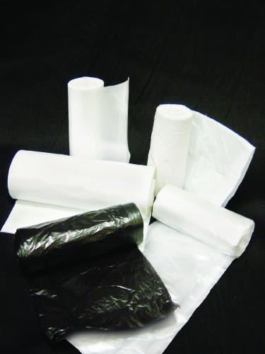 Super Extra-Heavy Roll Garbage Can Liner, 38 X 60, High-Density, Clear