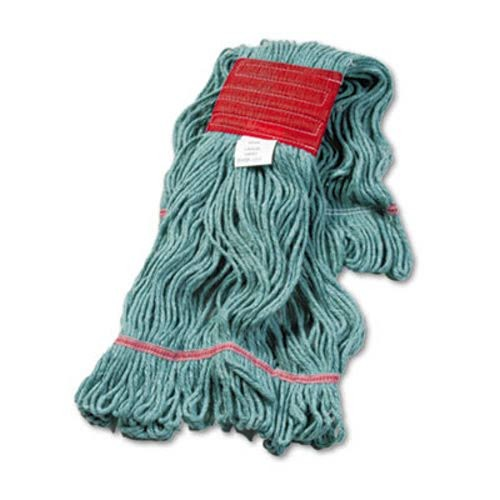 Super Loop Wet Mop Head, Cotton/Synthetic, Large Size, Green