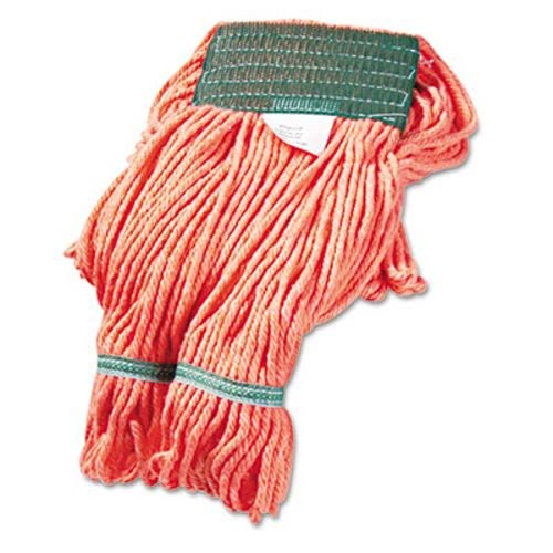 Super Loop Wet Mop Heads, Cotton/Synthetic, Medium Size, Orange