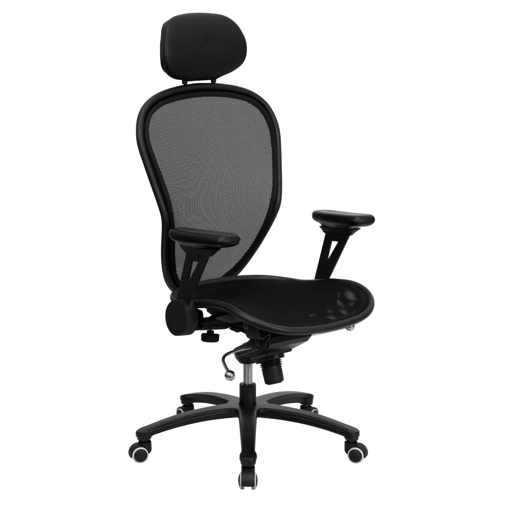 Super Mesh Chair - Black Finished Professional Chair Featuring Solid Metal Construction
