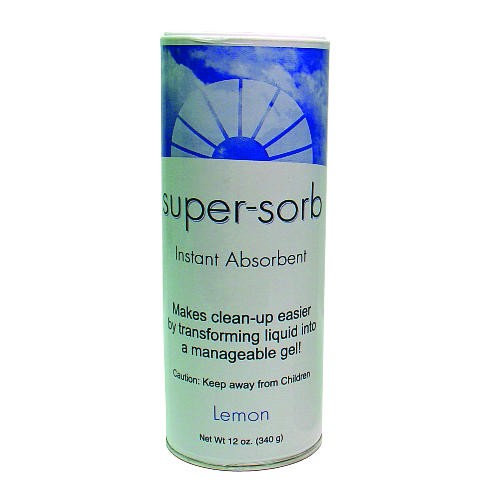 Super-Sorbspill Liquid Spill Absorbent Shake Can, Lemon, 12 Oz