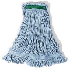 Super  Blend Mop Heads, Cotton / Synthetic, Blue, Medium