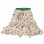 Super Stitch Blend Mop Heads, Cotton / Synthetic, White, Medium